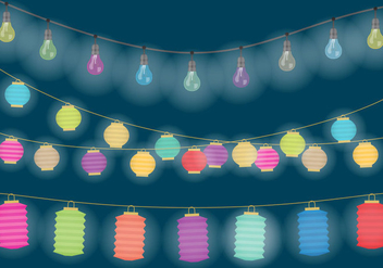 Decorative Hanging Lights - vector gratuit #332987