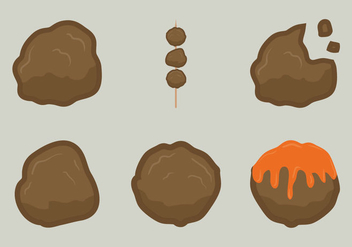 Free Meat Ball Vector Illustration - vector gratuit #332997