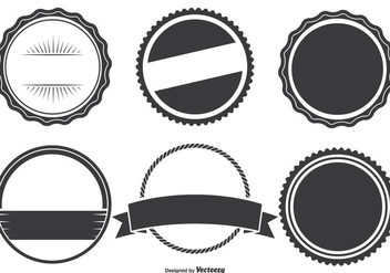 Assorted Badge Shapes Set - Free vector #333017