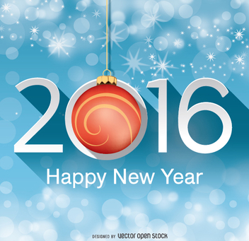 2016 new year background - Free vector #333087