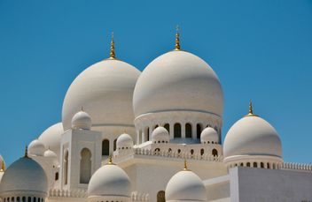 White doms of Mosque - image #333257 gratis