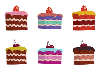Free Cake Slice Isolated Vector Illustration - Free vector #333337