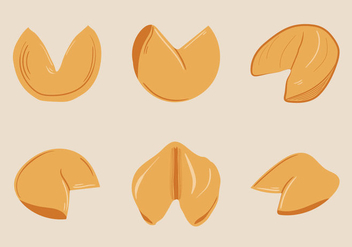 Free Fortune Cookie Vector Illustration - vector gratuit #333347