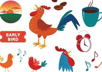 Free Early Bird Vectors - vector gratuit #333367