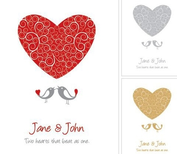Funky Wedding Card Template - Free vector #333527