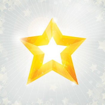Yellow Star Bright Christmas Background - vector #333537 gratis