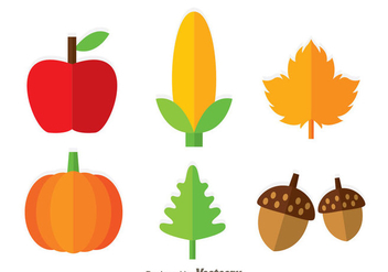 Thanksgiving Icons - Free vector #333847