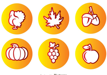 Thanksgiving Circle Icons - vector #333857 gratis
