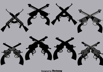 Vector crossed guns - Free vector #333867