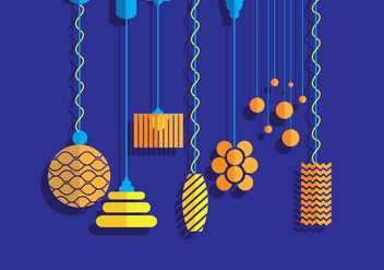 Hanging Light Vectors - vector gratuit #333877