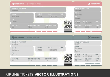 Vector Airline Tickets - Kostenloses vector #333907