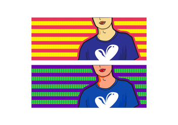 Free Simple Pop Art Facebook Cover - vector gratuit #334037
