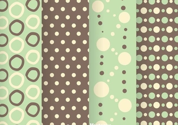 Green And Grey Polka Dot Pattern - Kostenloses vector #334057
