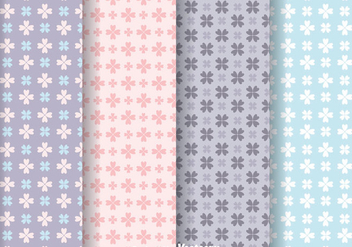 Love Flower Girly Pattern Vectors - Free vector #334097