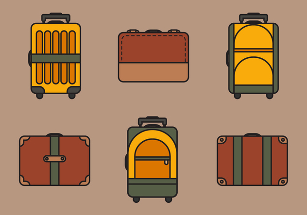 Sac de Vector Illustration Set - vector gratuit #334417