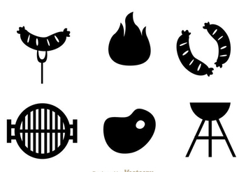 Beef Grill Icons - vector gratuit #334427