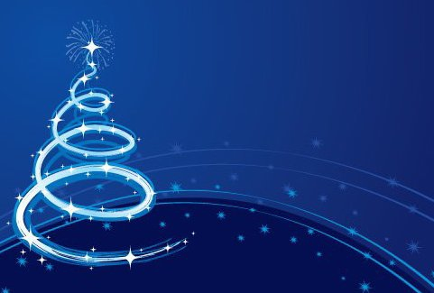 Spiraling Christmas Tree Background - vector gratuit #334467