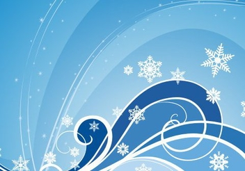 Blue Swirling Winter Background - vector #334507 gratis