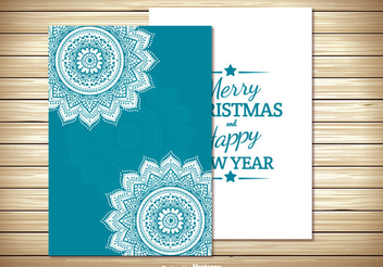 Two Parts Christmas Card - vector gratuit #334517