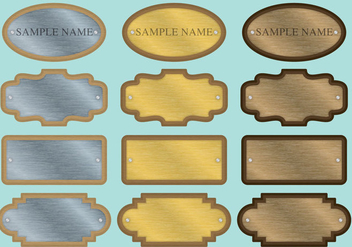 Name Plate Vectors - Free vector #334547