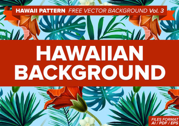 Hawaiian Pattern Free Vector Background Vol. 3 - vector gratuit #334567