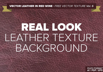 Vector Leather In Red Wine Free Vector Texture Vol. 6 - Kostenloses vector #334577