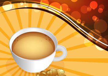 Ginger tea vector - vector #334617 gratis