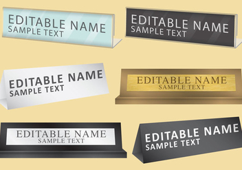 Personal Name Plates - Free vector #334867