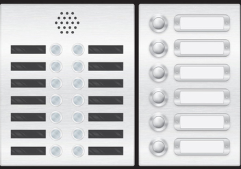 Elevator And Door Button Vectors - Kostenloses vector #334877