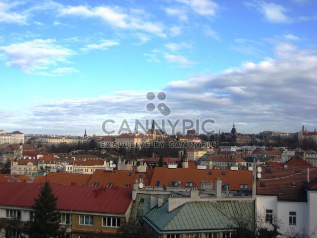 Prague from height in winter - image gratuit #335137
