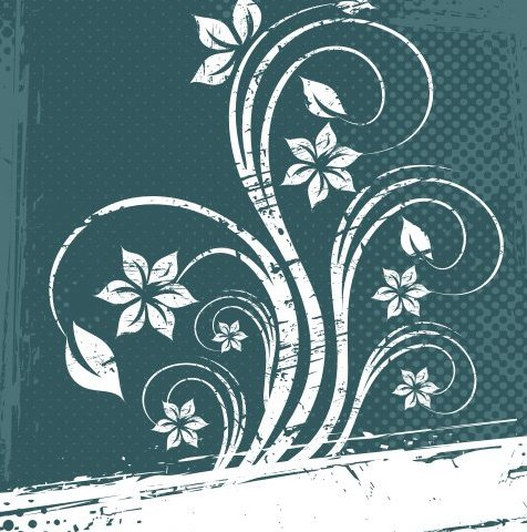 Grungy White Floral Halftone Background - Free vector #335157