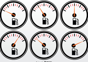 Fuel Gauge Vector Set - Free vector #335347