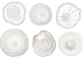 Tree Ring Vectrs - бесплатный vector #335357