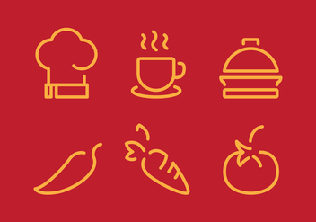 Vector Cooking Stuff Icon Set - vector gratuit #335367