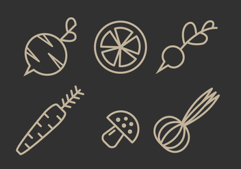 Vector Vegetables Illustration Set - vector gratuit #335407