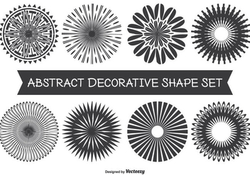 Assorted Abstract Decorative Shape Set - vector gratuit #335497