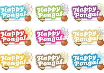 Happy Pongal Titles - Free vector #335527