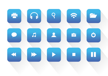 Universal Web Vector Icons - Free vector #335607
