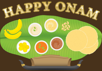 Happy Onam - vector #335767 gratis