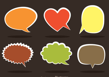 Speech Bubble Callout - Free vector #335987
