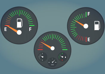 Fuel Gauge Vector Illustration - Free vector #336057