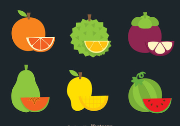 Tropical Fruits Icons - Free vector #336127