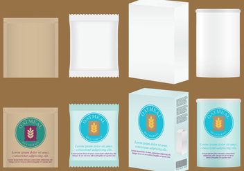 Oats Package Vectors - бесплатный vector #336137