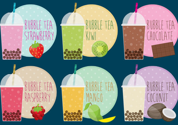 Bubble Tea - vector gratuit #336147