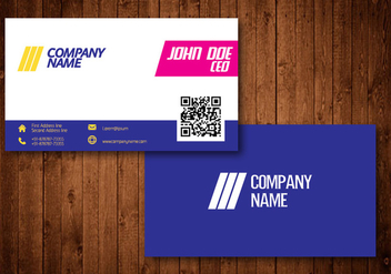 Bright Creative Business Card - vector gratuit #336187