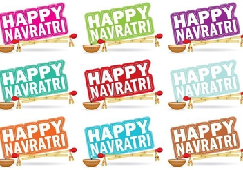 Navratri Titles - vector #336227 gratis