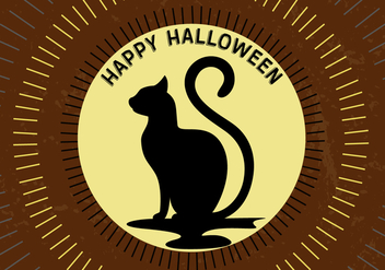 Free Halloween Moon Cat - Kostenloses vector #336247
