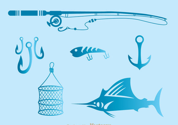 Fishing Tools Icons - vector #336527 gratis
