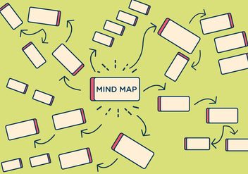 FREE MIND MAP ELEMENT VECTOR - Free vector #336537