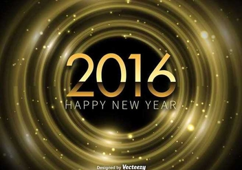Happy New Year 2016 background - бесплатный vector #336557